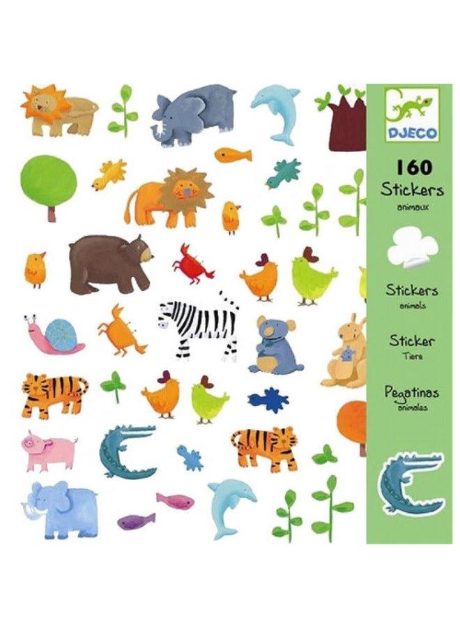 160 stickers - Werelddieren
