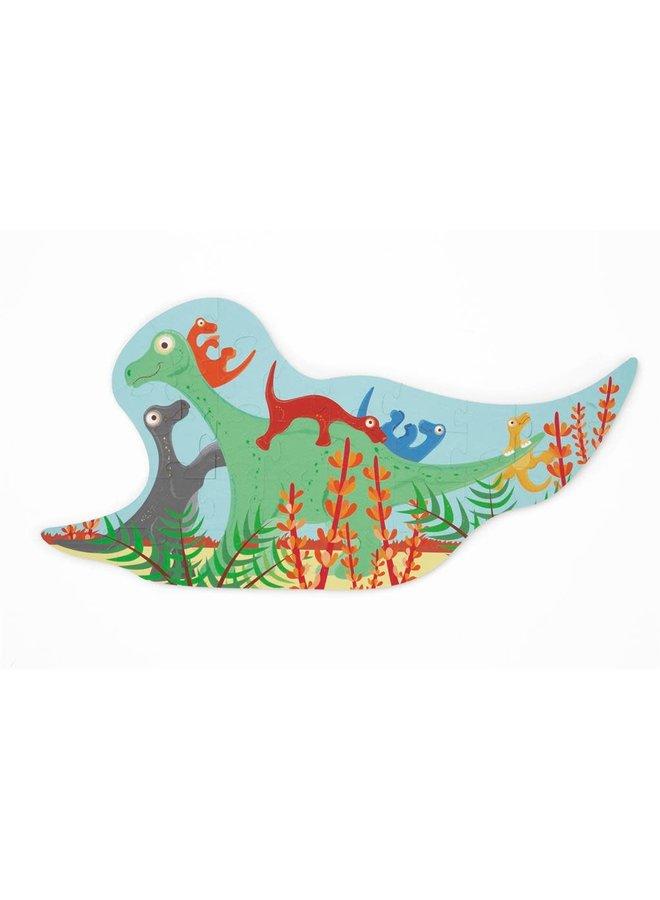 Contour puzzel - Dino