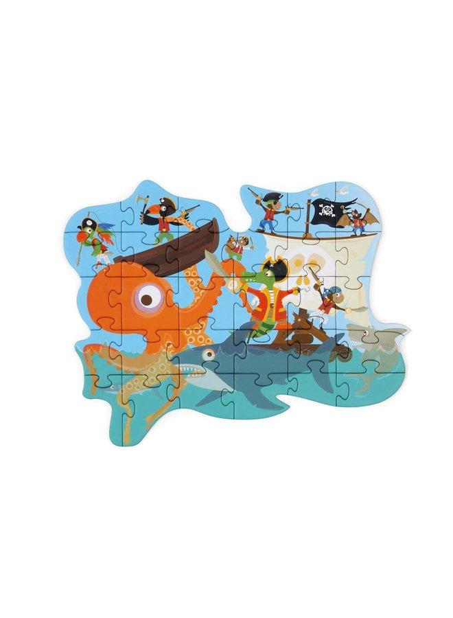 Contour puzzel - Piraat