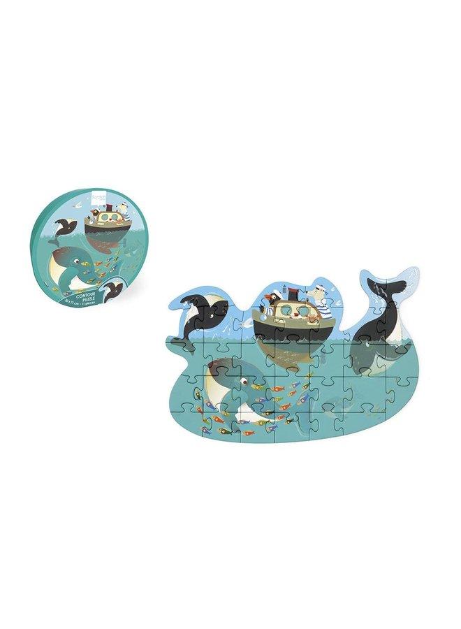Contour puzzel - Orka's