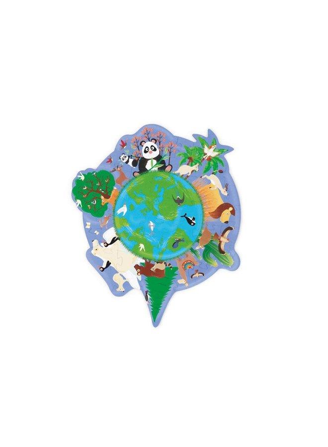 Contour puzzel - Wereld