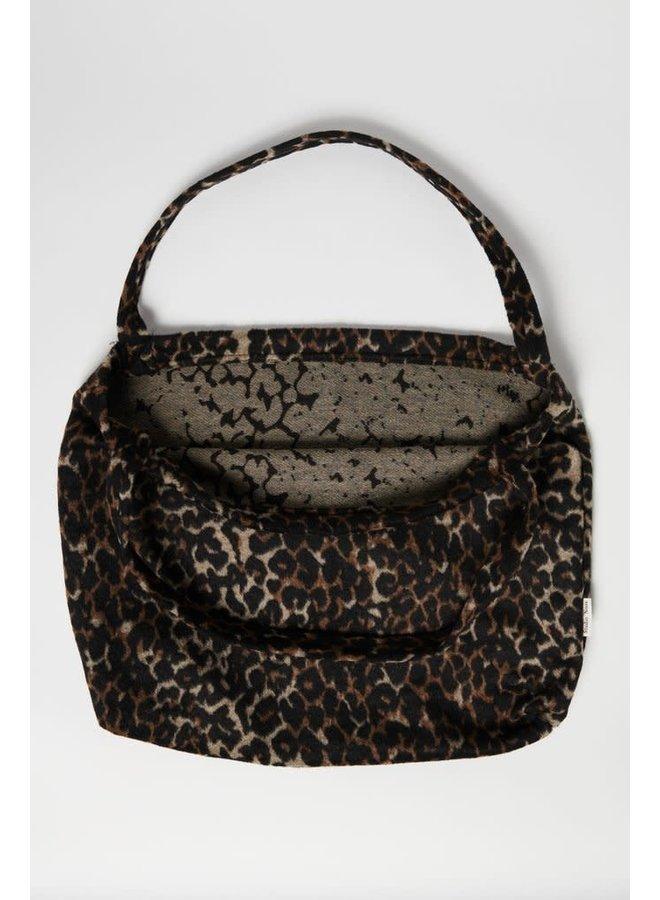 Brown jaguar mom-bag
