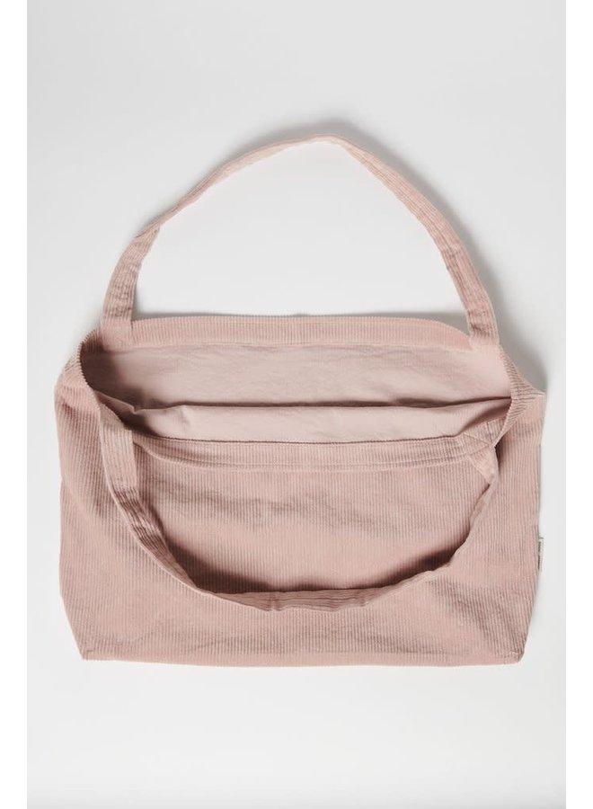 Dusty pink rib mom-bag