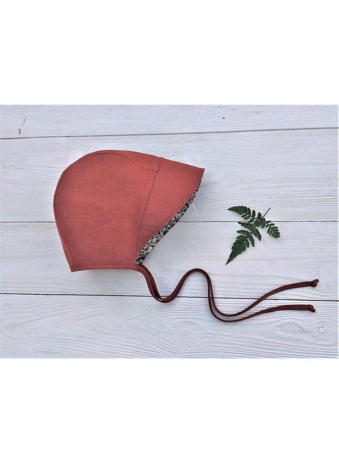 Bonnet full brim rust - floral