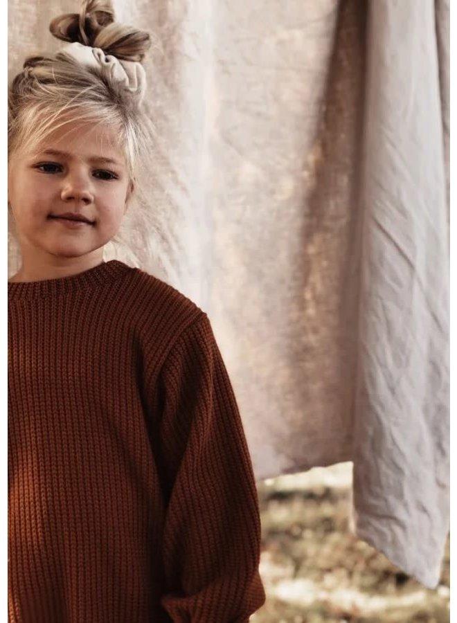 Knit sweater - Rust