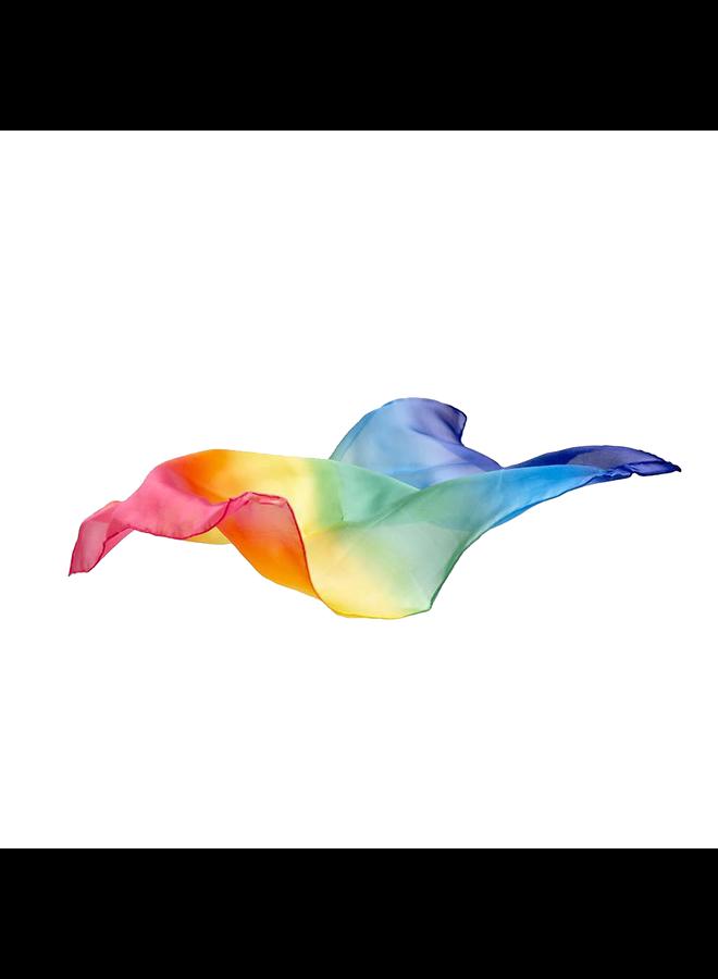 Zijden speeldoek 53x53cm - regenboog