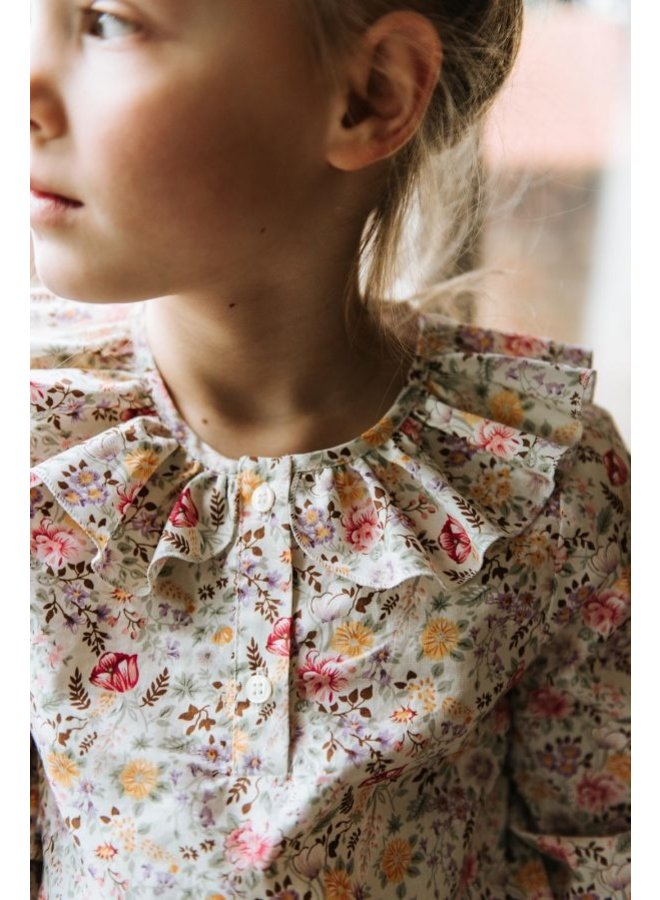 Blouse with collar - Floral