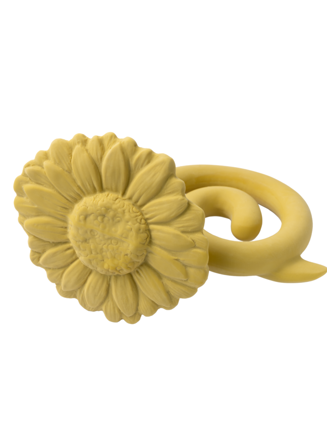 Bijtring Bloem sunflower geel