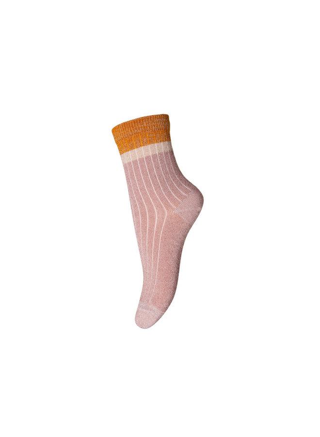 Norma glitter socks - Rose Dust