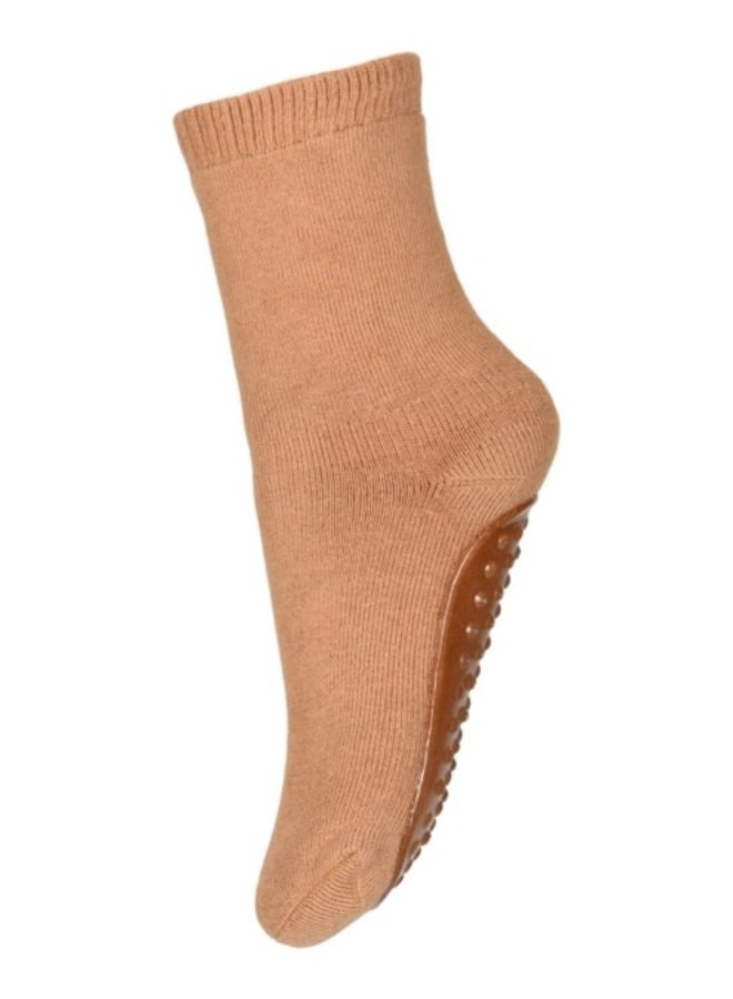 Cotton socks with anti-slip - Apple Cinnamon