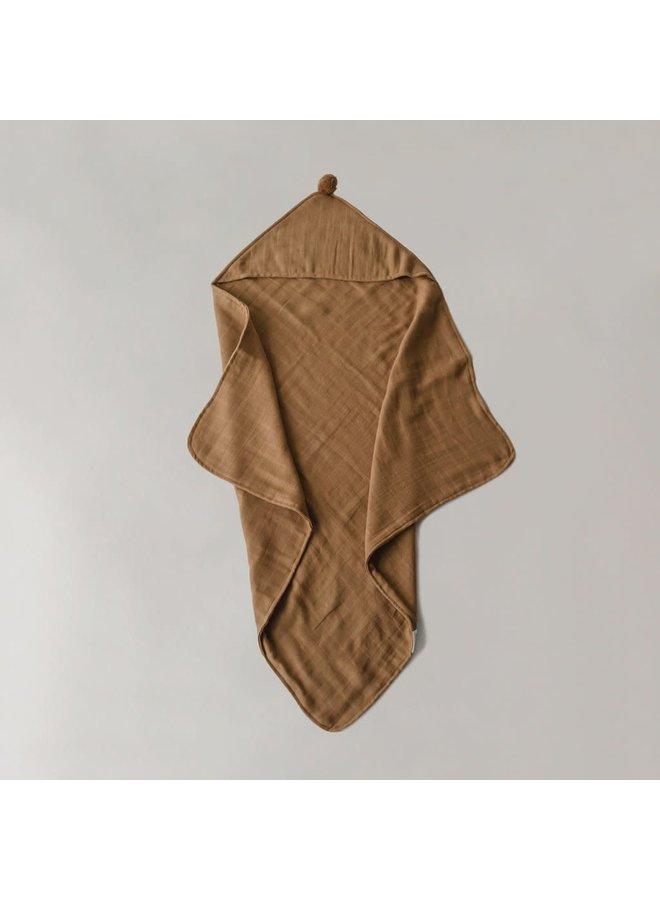 Organic hooded towel - Amber