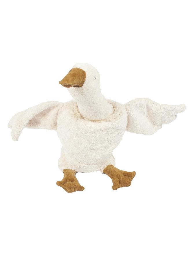 Cuddly animal Goose large | white