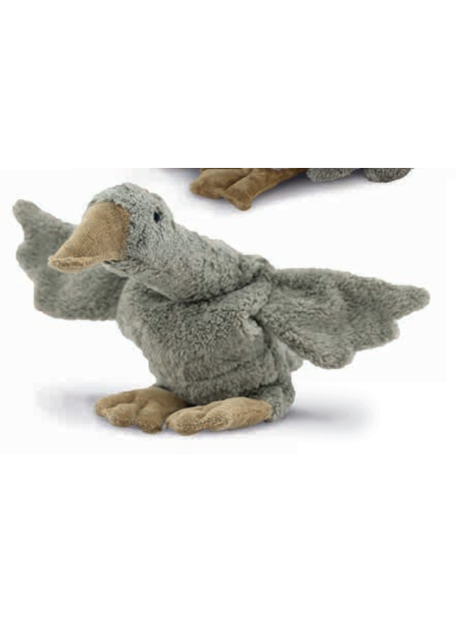 Cuddly animal Goose small | grey | vegan