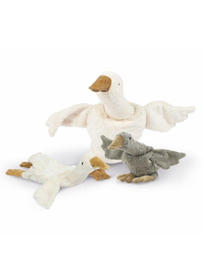 Cuddly animal Goose small  white