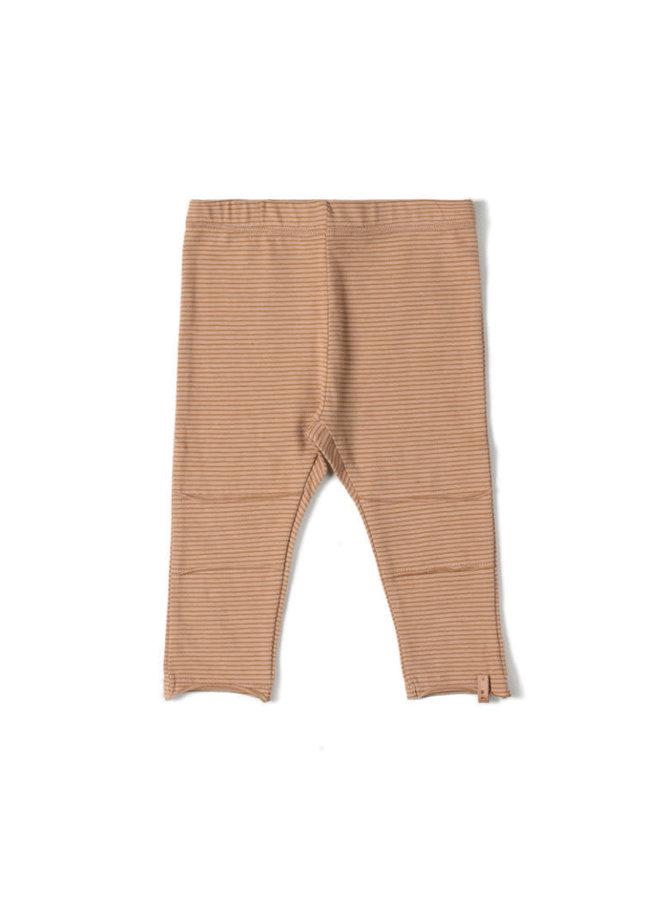 Tight Legging Stripe Nude/ Caramel