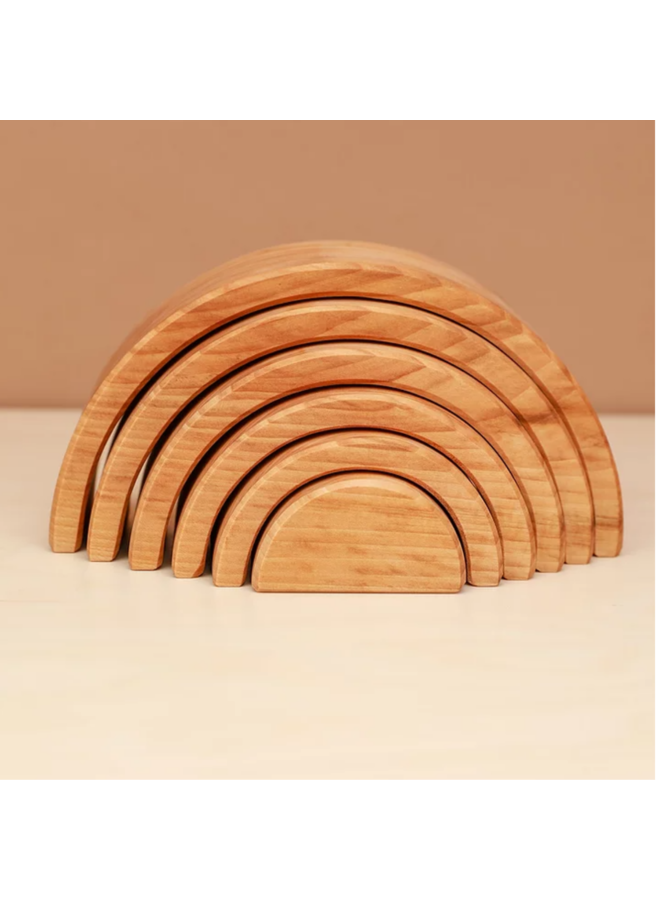 Regenboog naturel (6pc) 21 cm