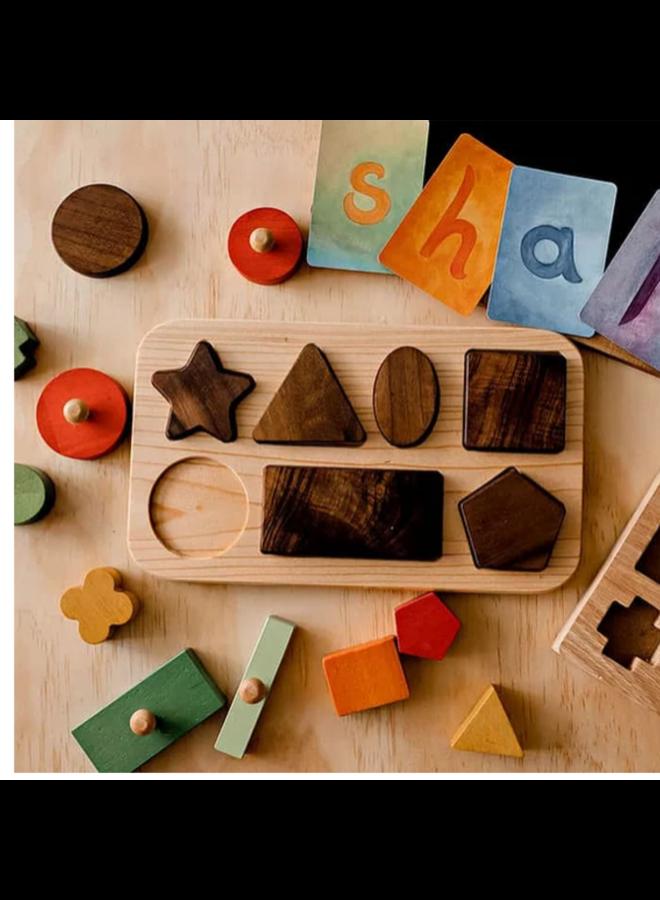 Houten puzzel vormen