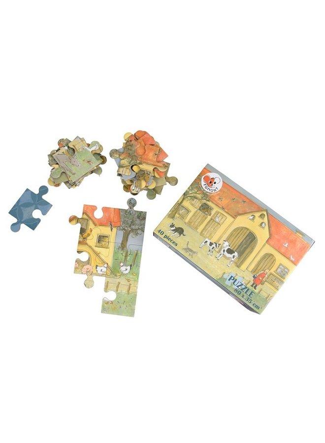 Puzzel 40 stukjes boerderij