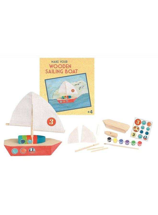 Knutselpakket houten zeilboot