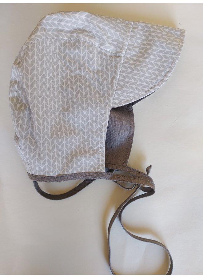 Bonnet cap grey - stripey