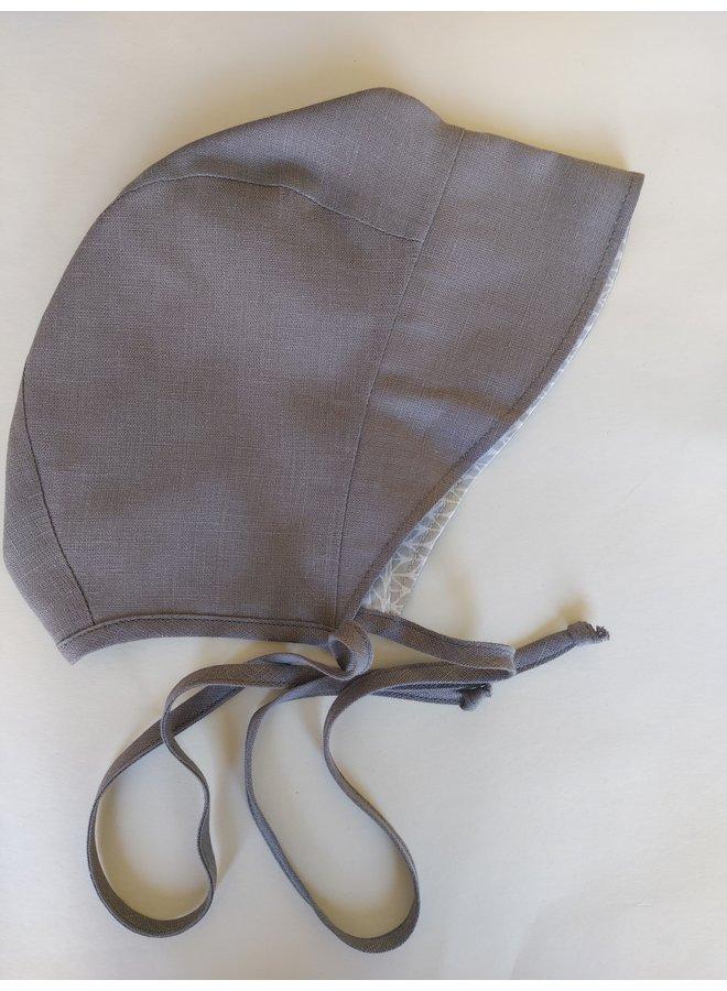 Bonnet full brim grey - stripey