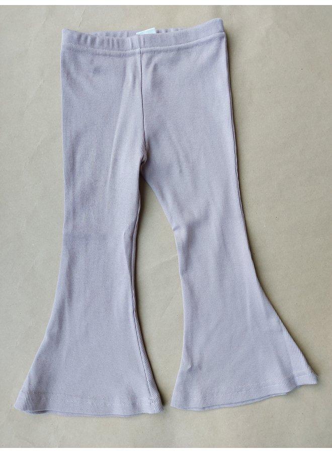 Flared pants rib - Lilac