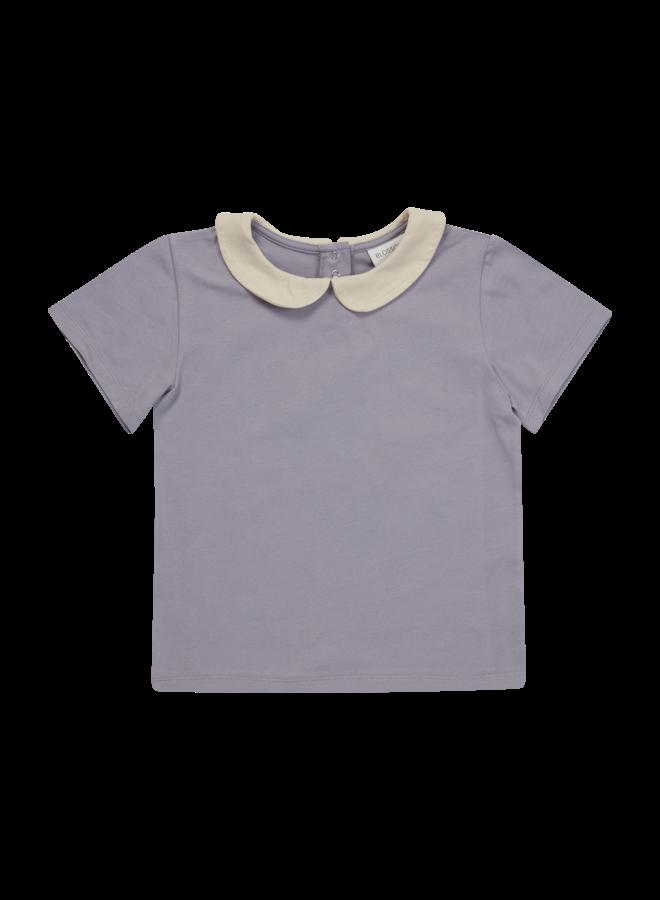 Peterpan shirt short sleeve - Lavender Gray