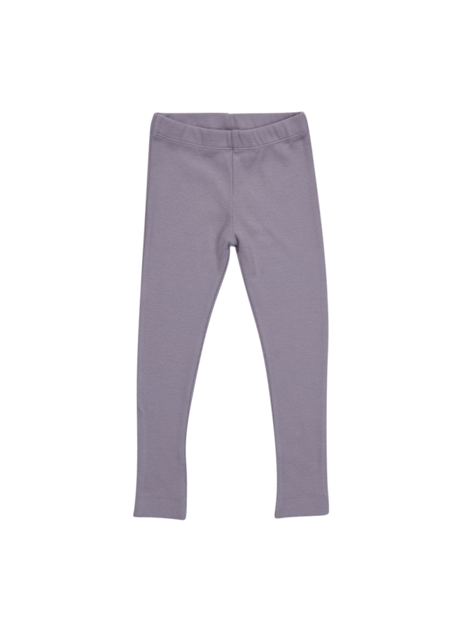 Legging - soft rib - Lavender Gray