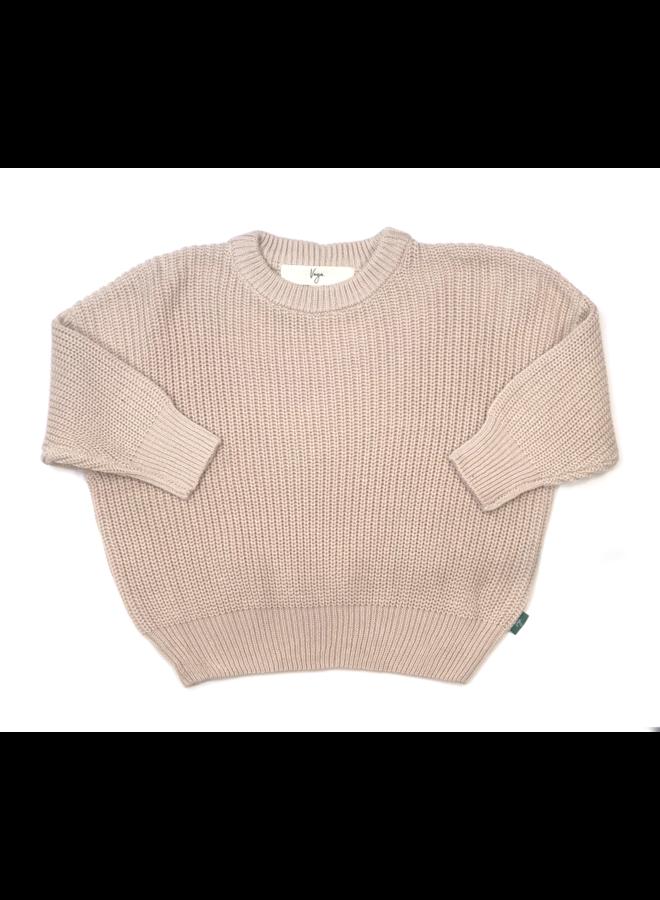 Knit sweater cordero - crema