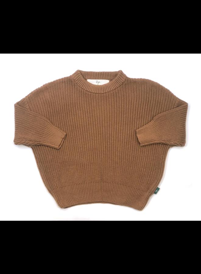 Knit sweater cordero - cappuccino