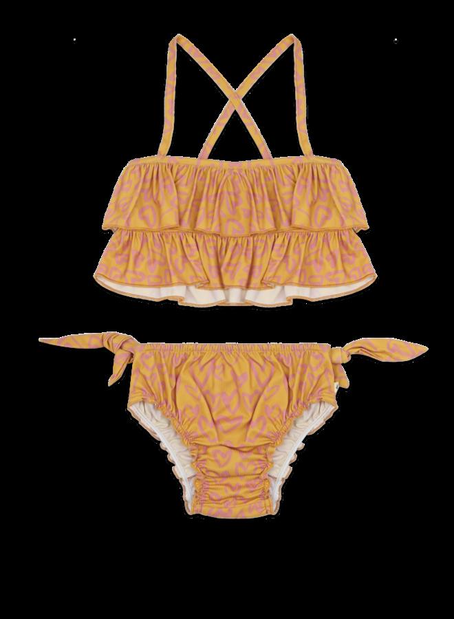 Bikini heart printed