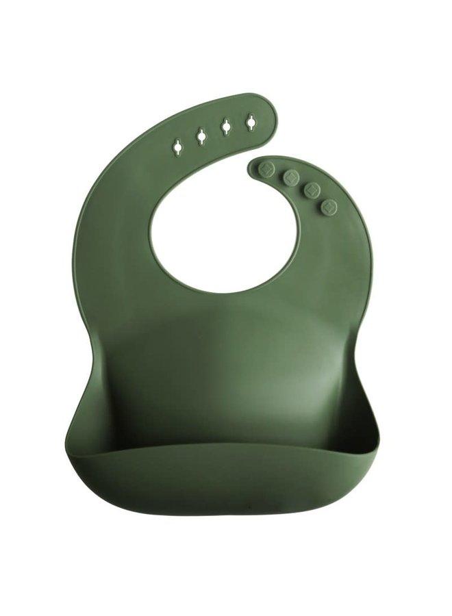Silicone bib - Forest green