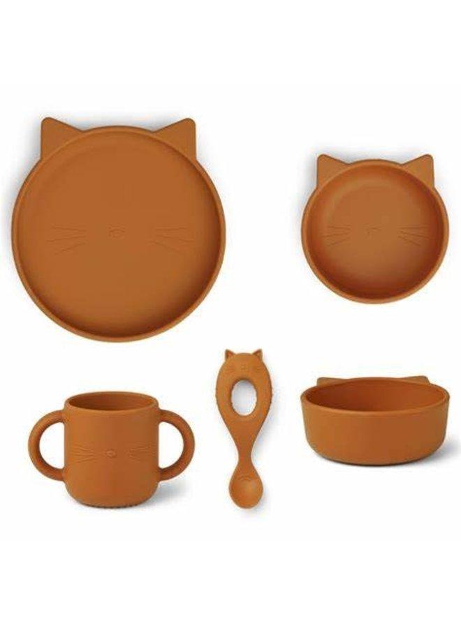 Vivi silicone set - Cat mustard