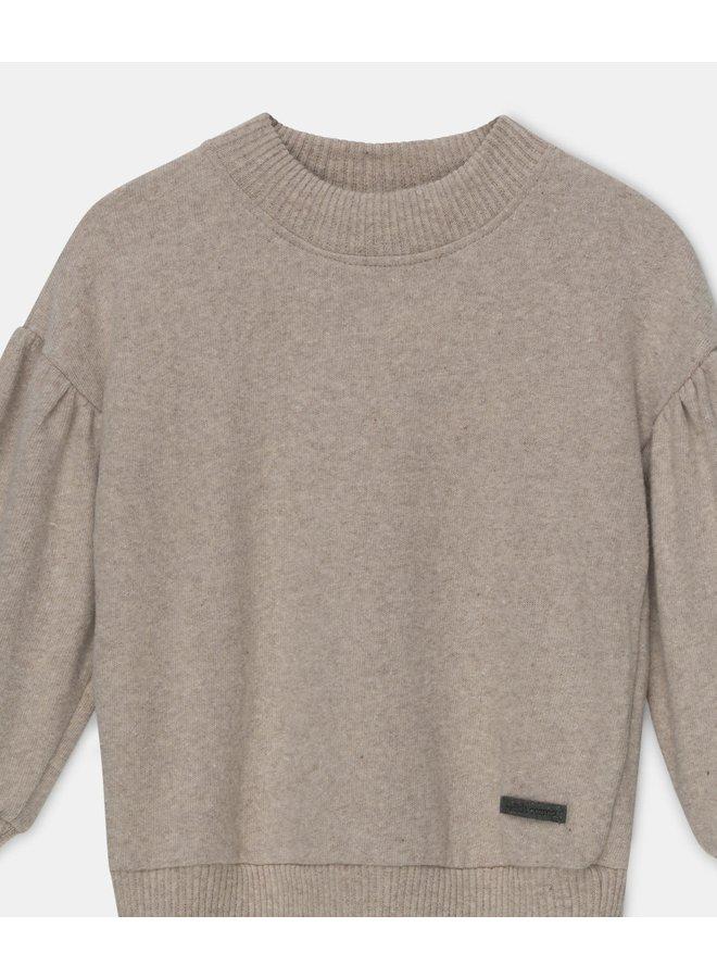 Soft knit sweater beige girls