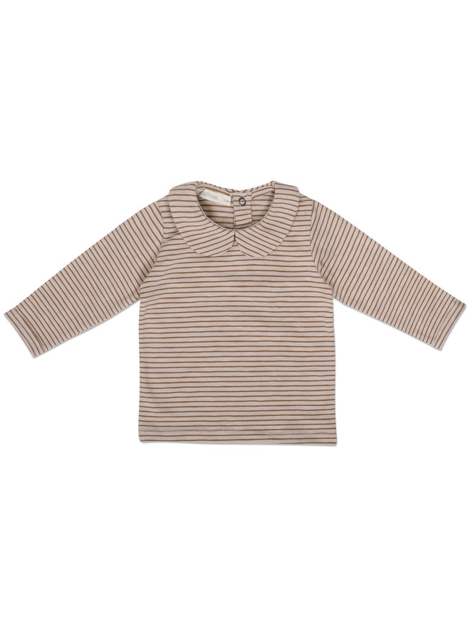 Collar tee l/s stripes