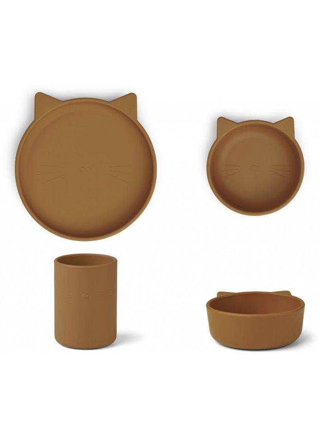Cyrus silicone set - Cat mustard