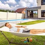 Vita5 Vita5 Hangmat met Frame, Tot 2 Personen / 200 kg, 190 x 140 cm, Met kussen, UV-Resistant