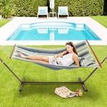 Vita5 Vita5 Hammock with Frame, Up to 2 People / 200 kg, 190 x 140 cm, Removable Pillow, Weatherproof, Dark Green / Dark Blue