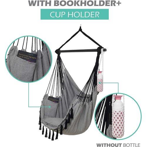 Vita5 Vita5 Hanging Chair with 2 Cushions - Gray