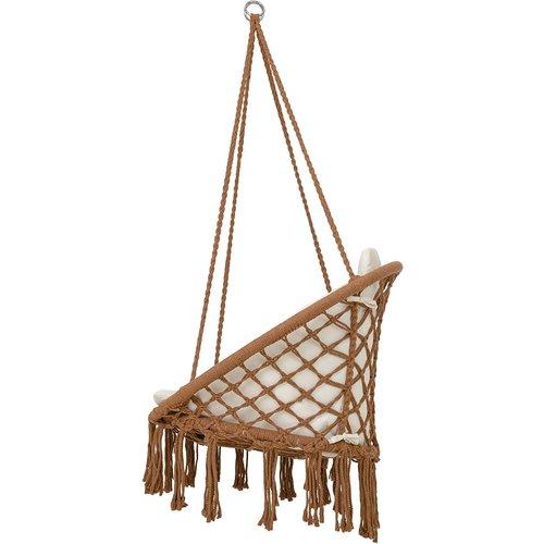 Vita5 Vita5 Macrame Hanging chair - Brown