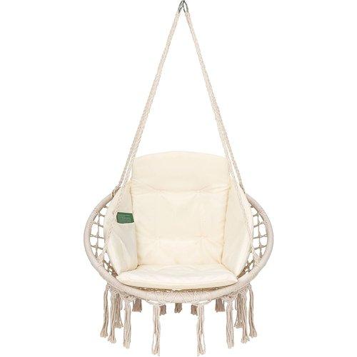 Vita5 Vita5 Macrame Hanging chair - Beige