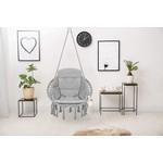 Vita5 Vita5 Macrame Hanging chair - Gray