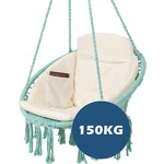 Vita5 Vita5 Macrame Hangstoel - Turquoise