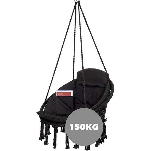 Vita5 Vita5 Macrame Hanging chair - black