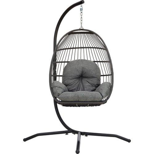 Vita5 Vita5 Egg hangstoel met luxe kussen en standaard