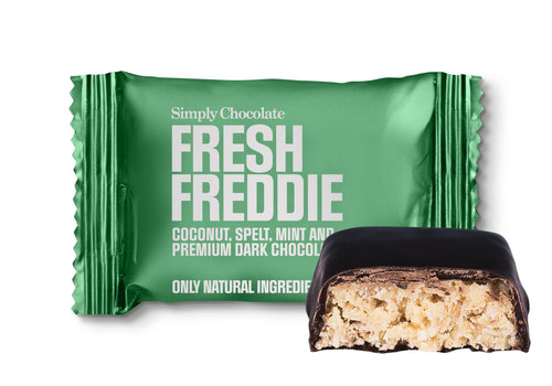 Simply Chocolate Fresh Freddie mini (10g) – 1 st.