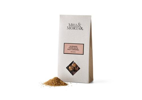 Mill & Mortar Amandelen en Hazelnoten met gezouten karamel (100g) – BIO