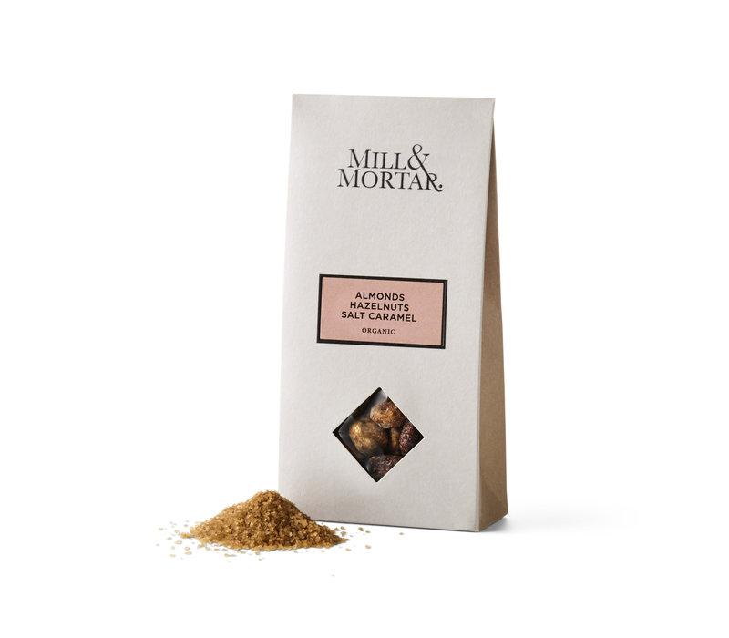 Amandelen en Hazelnoten met gezouten karamel (100g) – BIO