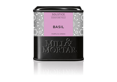 Mill & Mortar Paarse en groene basilicum (15g) – BIO
