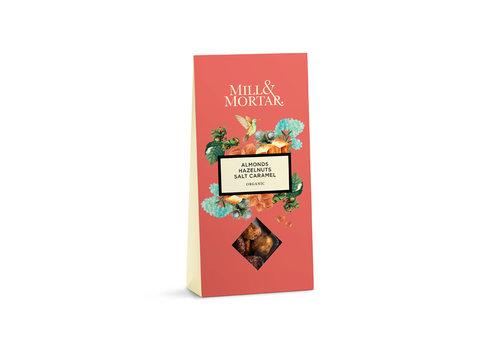 Mill & Mortar Amandelen en Hazelnoten met gezouten karamel (100g) – BIO - NEW design